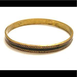 Brass boho bangle bracelet vintage